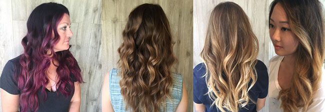 Balayage, color melt, hand painting hair colors